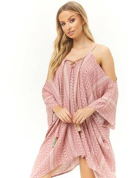 Surf Gypsy Tassel Kaftan Mini Dress by Forever 21