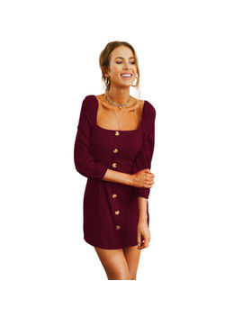 Women Sexy Casual Summer Long Sleeves Mini Dress Cocktail Party Evening Bodycon by Emmababy
