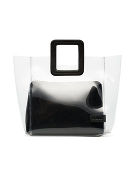 Staudclear And Black Shirley Pvc And Leather Totehome Women Bags Tote Bags by Staud
