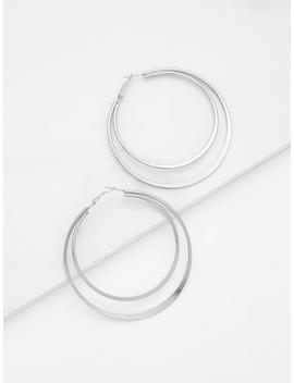 Double Layered Open Hoop Earrings by Romwe