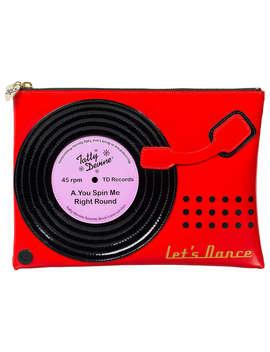 Tatty Devine Record Player Washbag, Red by Tatty Devine