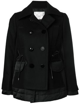 Sacaidouble Breasted Jackethome Women Clothing Fitted Jackets by Sacai