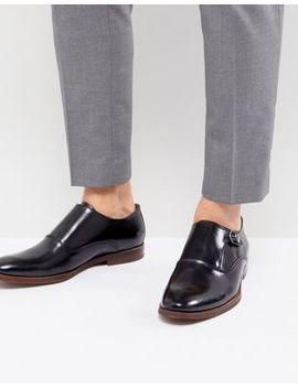 Aldo Catallo Leather Monk Shoes In Black by Aldo