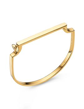 Signature Thin Bangle Bracelet by Monica Vinader