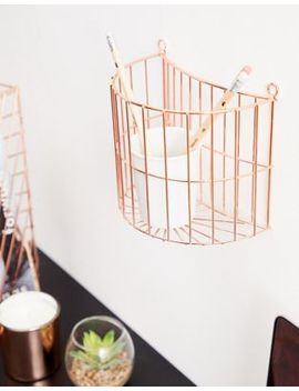 Candlelight Copper Hanging Storage by Asos
