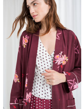 Belted Orchid Print Kaftan by & Other Stories