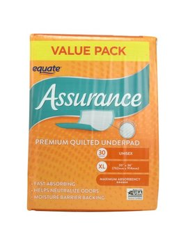 Equate Assurance Premium Quilted Underpad, Xl, 30 Ct by Equate