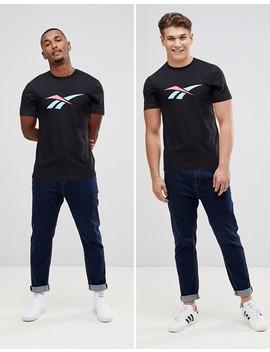 Reebok Vector Logo T Shirt In Black Dn9812 by Reebok