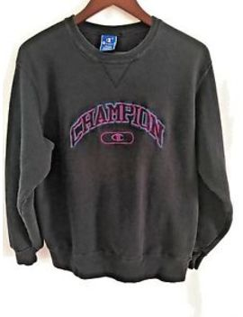 Vtg Champion Sweatshirt Large Reverse Weave Embroidered Spell Out Usa by Champion