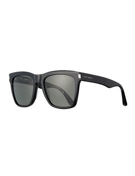 Devon Square Monochromatic Sunglasses, Black by Neiman Marcus