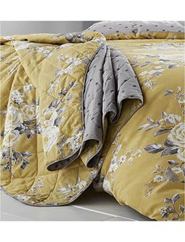 Catherine Lansfield Canterbury Easy Care Bedspread Ochre, 220x230cm by Amazon
