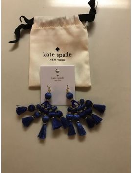 Brand New Kate Spade Pretty Poms Tassel Earrings In Blue Multi With Dust Pouch by Kate Spade New York