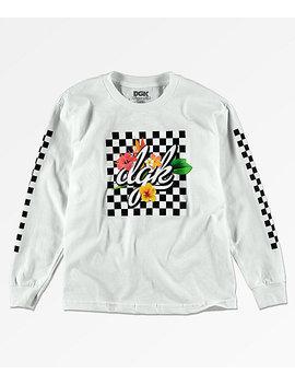 Dgk Boys Tropical White Long Sleeve T Shirt by Dgk