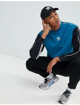 Adidas Originals Authentic Stripe Sweat In Blue Dh3835 by Adidas Originals