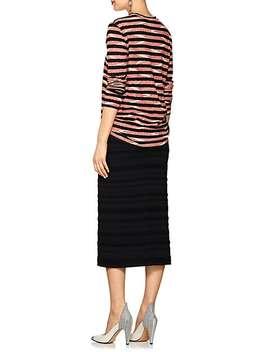 Chevron Striped Cotton Jersey Long Sleeve T Shirt by Proenza Schouler