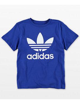 Adidas Youth Trefoil Blue T Shirt by Adidas