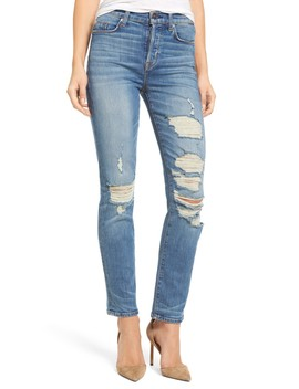 Zoeey High Rise Straight Crop Jeans by Hudson Jeans