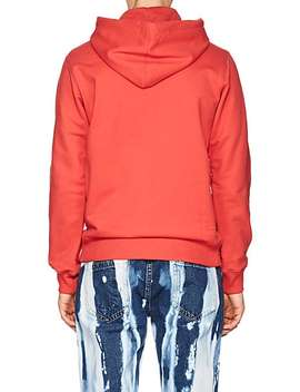 Puppy Print Cotton Blend Terry Hoodie by Helmut Lang Seen By Shayne Oliver