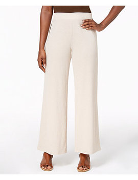 Textured Straight Leg Pants, Created For Macy's by Jm Collection