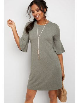 24_7-solid-bell-sleeve-dress by maurices
