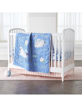 Swan Crib Bedding by Crate&Barrel