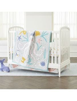 Marine Queen Crib Bedding by Crate&Barrel