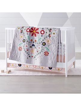 Baja Garden Crib Bedding by Crate&Barrel