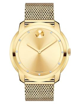 Diamond Museum Dial Mesh Strap Watch, 44mm by Movado