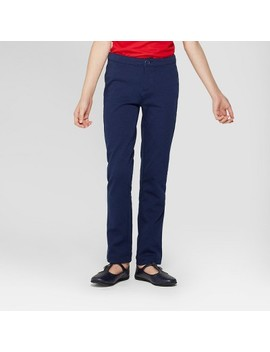 Girls' Skinny Ponte Uniform Trousers   Cat & Jack™ by Cat & Jack™