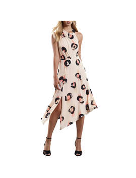 Reiss Roya Abstract Leopard Print Dress, Pink by Reiss