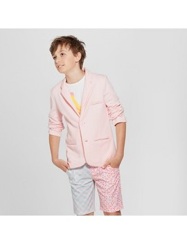 Boys' Knit Long Sleeve Blazer   Art Class™ Pink by Boys' Knit Long Sleeve Blazer   Art Class