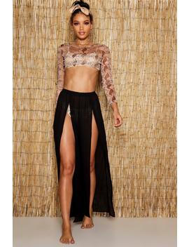 Split Leg Beach Trousers by Boohoo