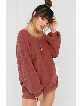 Sweet On Me  Sweater   Mauve by Lola Shoetique