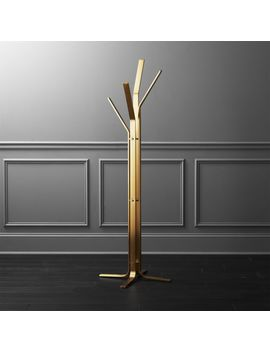 Valentina Standing Gold Coat Rack by Crate&Barrel