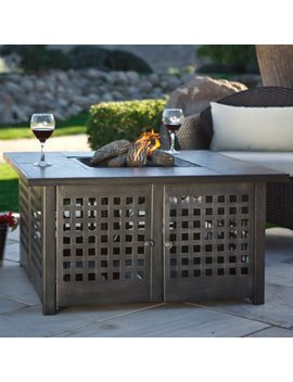 Uni Flame Grey Slate Top Lp Gas Fire Pit With Free Cover by Uni Flame