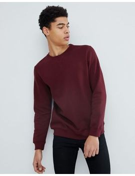 Pull&Bear Sweatshirt In Burgundy by Pull&Bear