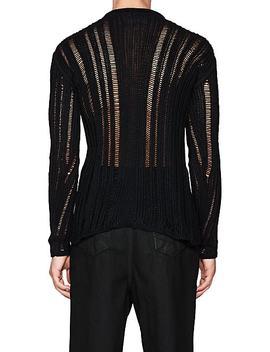 Level Lupetto Macramé Silk Sweater by Rick Owens