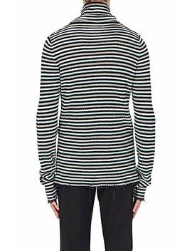 Striped Linen Turtleneck Sweater by Maison Margiela