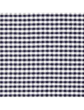 John Louden Gingham Print Fabric, Navy by John Louden