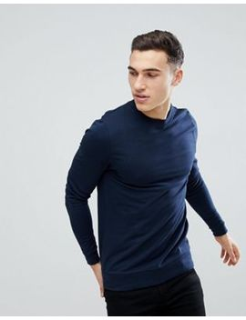 Asos Design Muscle Sweatshirt In Navy by Asos