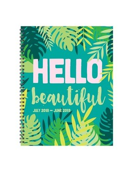 "2018   2019 Academic Spiral ""Hello Beautiful"" Monthly Planner by Tf Publishing"