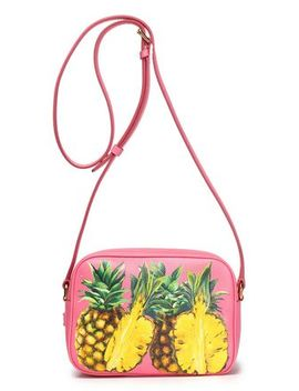 Printed Pebbled Leather Shoulder Bag by Dolce & Gabbana