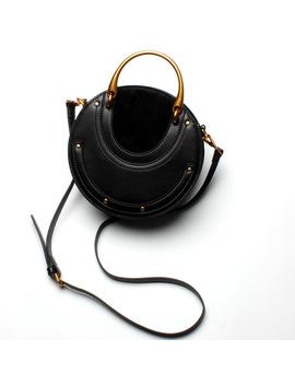 Best Selling Fashion Real Leather Vintage Metal Handbag With Small Round Bag Rivet Shoulder Bag by Fateful
