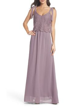 Koko Tie Shoulder Lace Bodice Gown by Heartloom