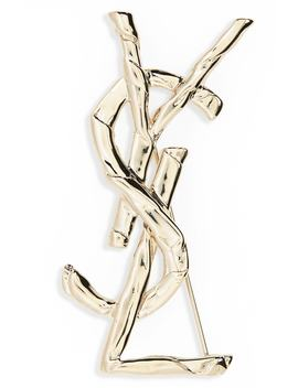 Drape Monogram Pin by Saint Laurent