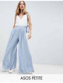 Asos Design Petite   Pantalone Extra Largo A Pieghe by Asos