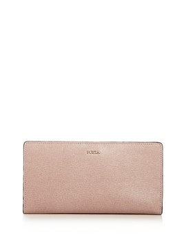 Babylon Extra Large Bi Fold Embossed Leather Wallet by Furla