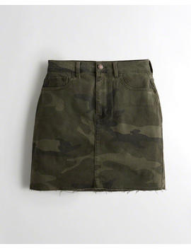 Ultra High Rise Twill Skirt by Hollister