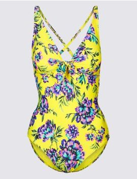 Secret Slimming™ Non Wired Plunge Swimsuit by Marks & Spencer