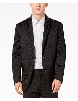 I.N.C. Men's Slim Fit Leopard Print Blazer, Created For Macy's by Inc International Concepts